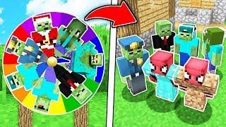 FAKİR ZOMBİ ÇARK ÇEVİRME OYNADI! 😱 - Minecraft
