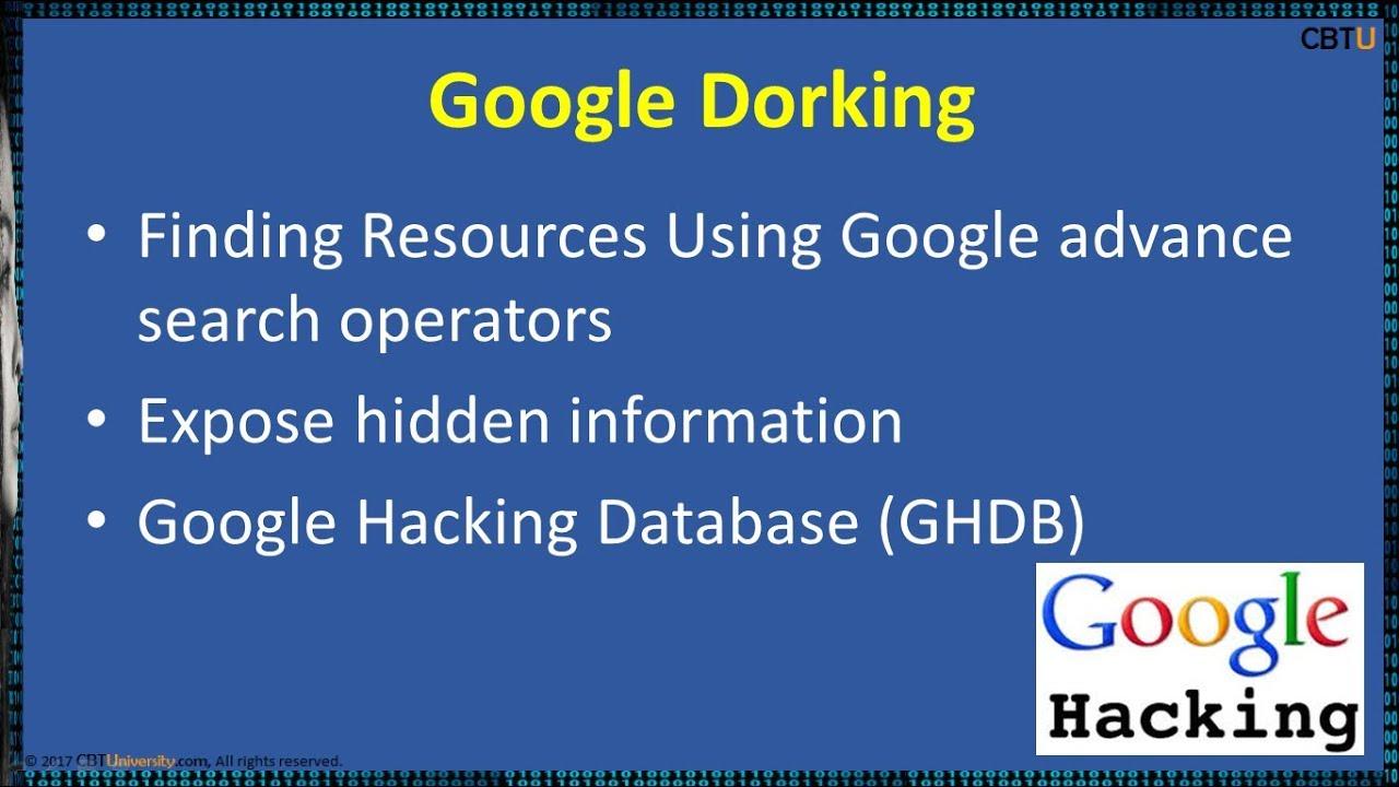 2 3 Google hacking / Dorking