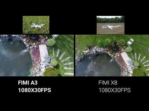 FIMI X8 SE  VS FIMI A3 MINI TEST DIFFERENCE  CAMERA 1080X30FPS