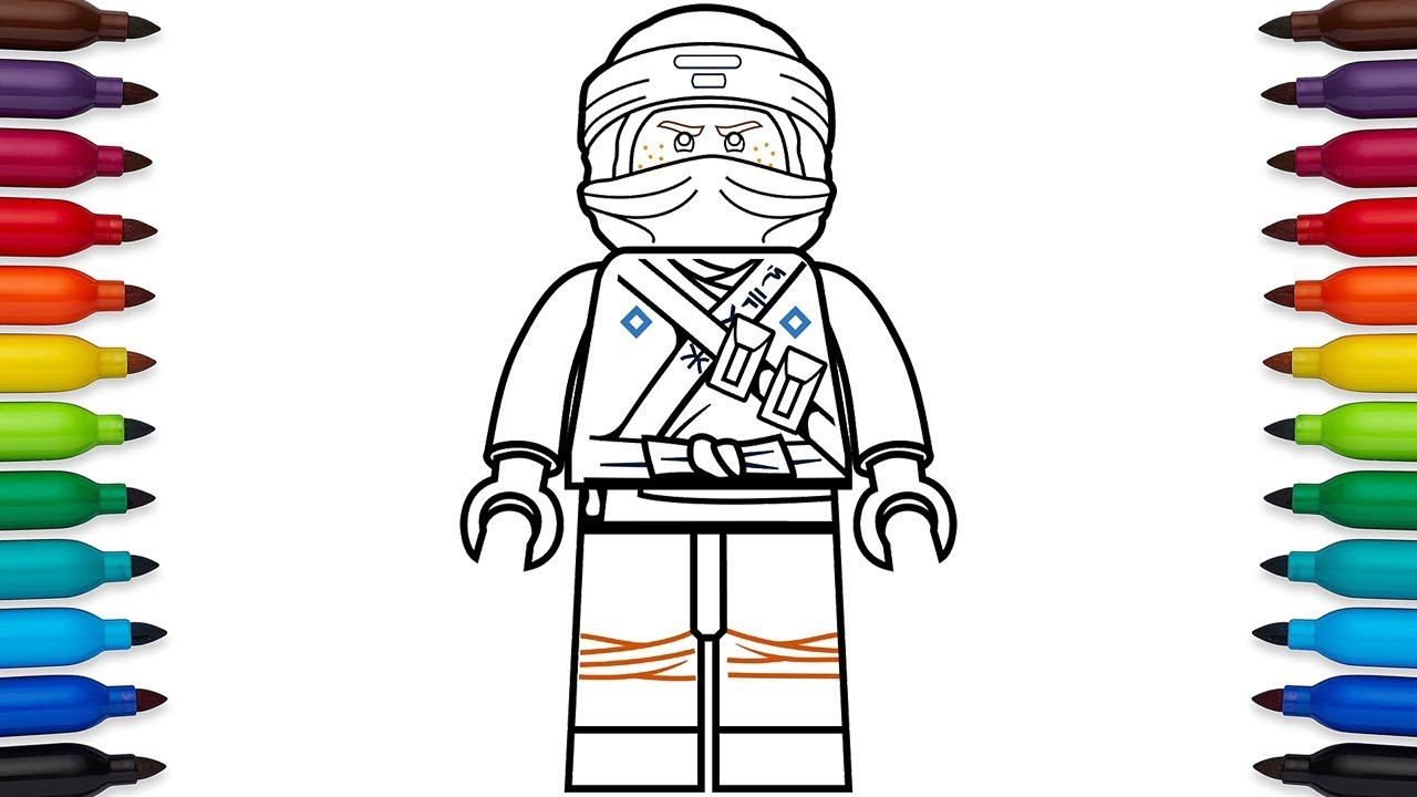 How to draw Lego Ninjago Jay Walker