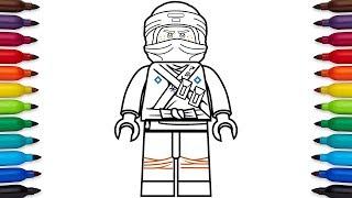 How to draw Lego Ninjago Jay Walker from the Lego Ninjago Movie