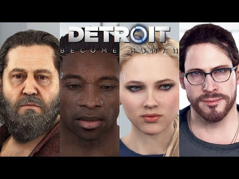 DETROIT BECOME HUMAN - ALL SHORTS Zlatko | Luther | Chloe | Kamski @ 1080p HD ✔