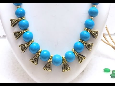 HOW TO MAKE A SIMPLE  BAIL  NECKLACE AT HOME !!!!! -TUTORIAL