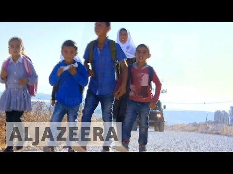 Israeli Army Escorts Palestinian Children To School