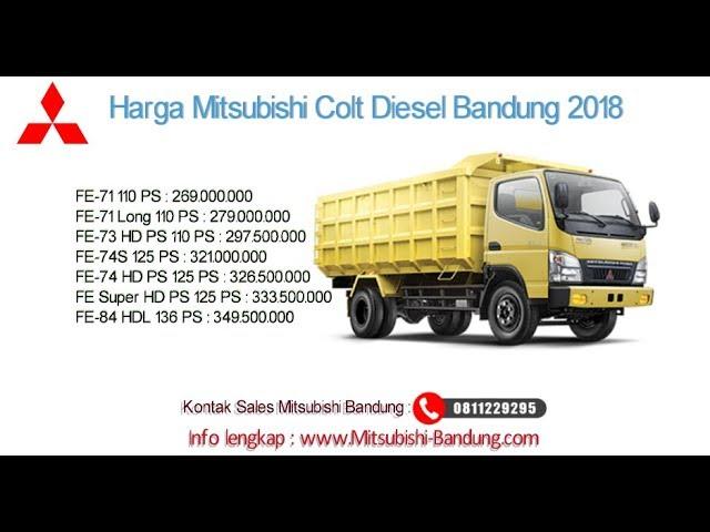 Harga Mitsubishi Colt Diesel 2018 Bandung dan Jawa Barat