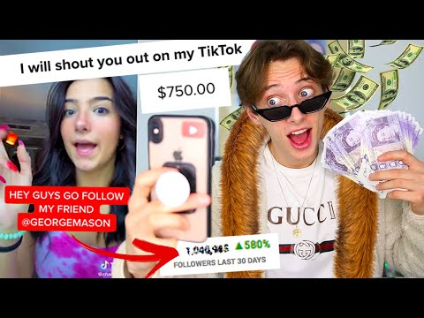 I PAID TIKTOK Stars $1000 To Make Me TIKTOK Famous And THIS Is What Happened...
