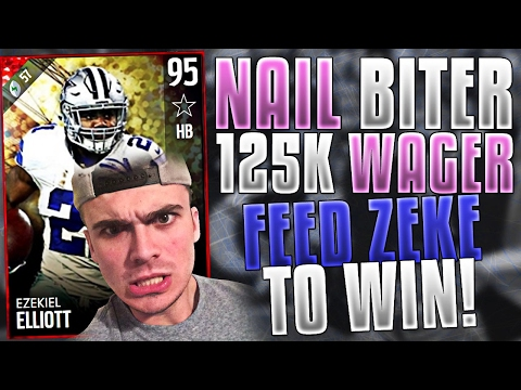 125K WAGER! DOWN TO THE WIRE WITH ZEKE | MADDEN 17 ULTIMATE TEAM