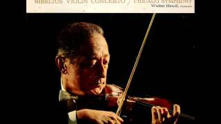 Sibelius / Jascha Heifetz, 1960: Violin Concerto in D minor, Op. 47 - Walter Hendl, CSO (Movement 3)