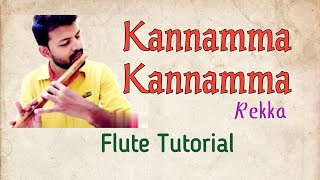 Kannamma song notes / Rekka / Flute Tutorial