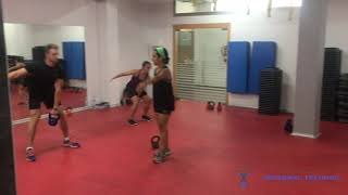 Students learning High Pull  -  EPTI Kettlebell Instructor workshop