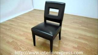 Interiorexpress Faustino Dark Brown Leather Dining Chair