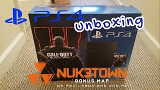 PS4 CoD Black OPs 3 Bundle unboxing with Nuketown Map CUH-1216A(500gb version of the PS4, this is the newer lighter and quieter version., 2015-11-15T17:24:12.000Z)