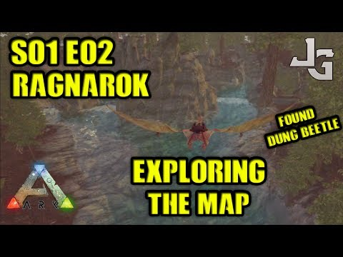 ARK Ragnarok - Exploring the map - Found Dung beetle - S01E02