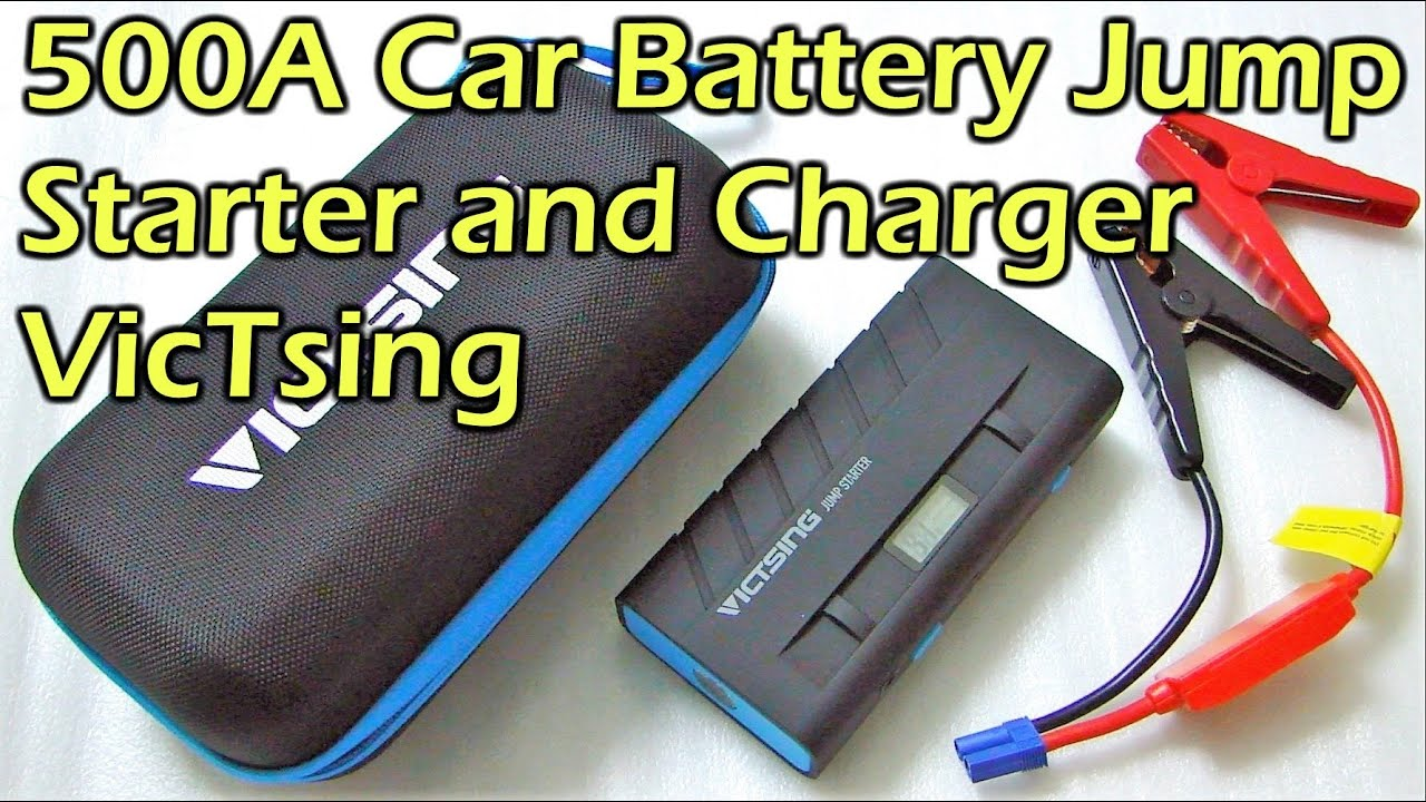 Car Battery Jump Starter 500a With Charging Function Victsing Charger Shortcircuit Protection For Safe