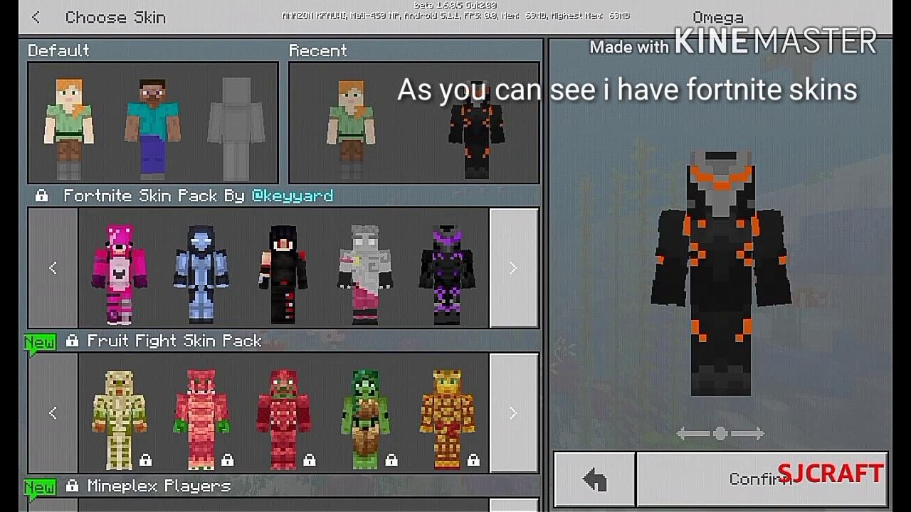 Fortnite Skins For Minecraft Pocket Edition