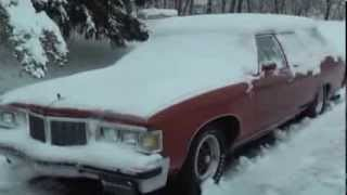 1976 Pontiac Grand Safari 455 Cold Start in -12 degree weather
