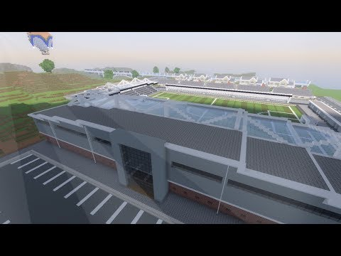 Minecraft: SMALL FOOTBALL STADIUM BUILD TIMELAPSE PART 1