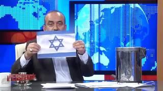 شاهد.. إعلامي تركي يمزّق صور نتنياهو ويحرق علم إسرائيل على الهواء ردًا بالمثل