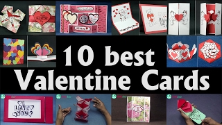 Valentine Card Ideas   Top 10 Diy Valentine Cards To Make At Home