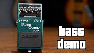 Boss BC-1X Bass Compressor Demo