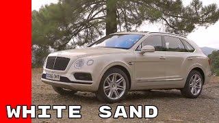 White Sand 2017 Bentley Bentayga Test Drive, Interior, Design