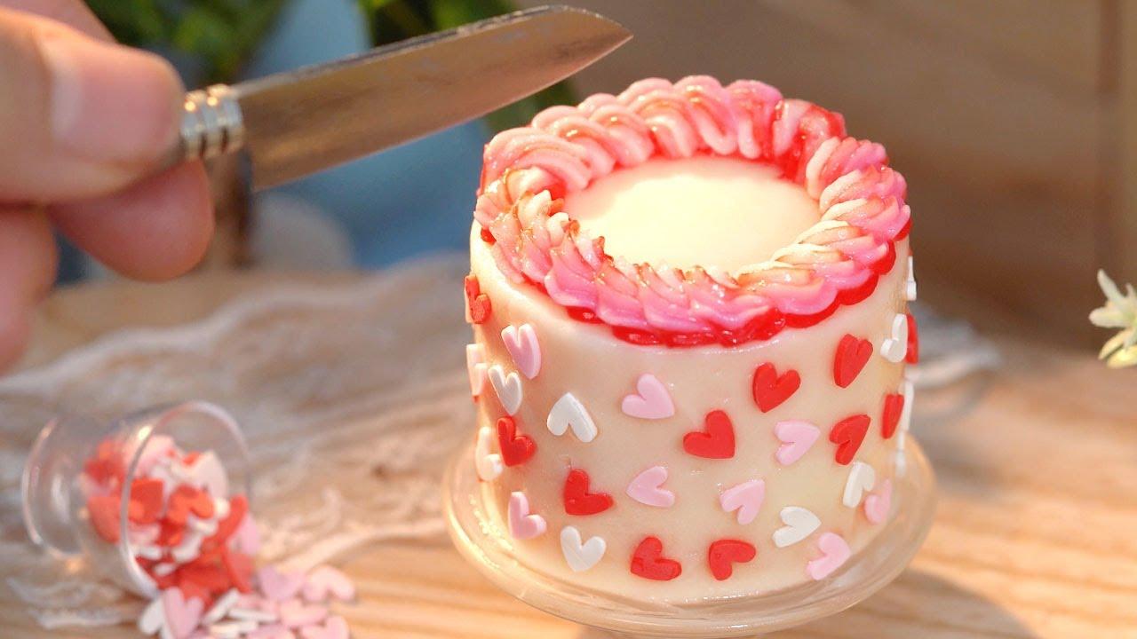 Beautiful Heart Cake Decorating   Miniature Cake Ideas   Tiny Cakes