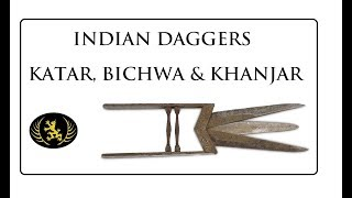 Indian Daggers - Katar, Bichwa and Khanjar. With Matt Easton at Chiswick Auctions.