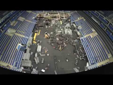 Трансформация арены ВТБ Ледовый Дворец: из хоккейной в концертную площадку  и обратно