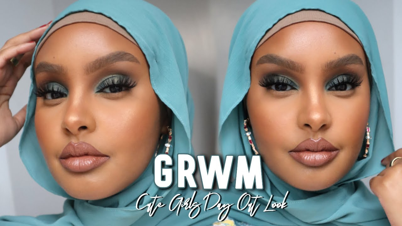 GRWM GIRLS DAY OUT EDITION | TEAL SOFT GLAM MAKEUP LOOK | Jasmine Egal