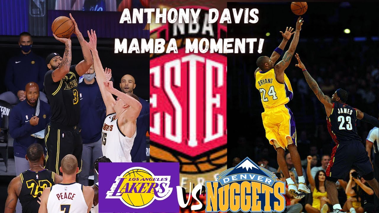 ANTHONY DAVIS TURNS INTO KOBE AND WINS THE GAME | EPIC ...