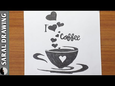 How To Draw A Coffee Cup Step By Step Youtube