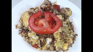 Minced Beef Egg Recipe/Delicious And  Easy  To Make