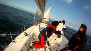 J80 Ecc Vivivendas Sailing in Santander - 14th January 2012 - Race 1. Recorded with Gopro