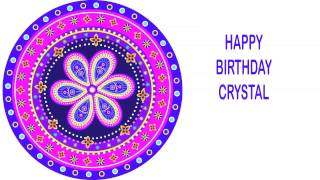 Crystal   Indian Designs - Happy Birthday