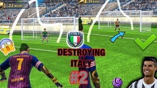 FOOTBALL STRIKE DESTROYING ITALY PART 2 WITH SIMILAR GOALS AND TRICKS KING CAP GAMING
