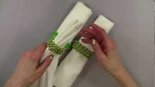 Napkin Rings Made With Inexpensive Metallic Party Beads