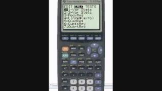 How to calculate Standard Deviation with TI Graphing Calculator
