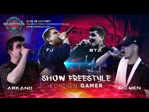 Show FreeStyle Gamepolis 2017 Arkano, Efejota, BTA y Mc Men