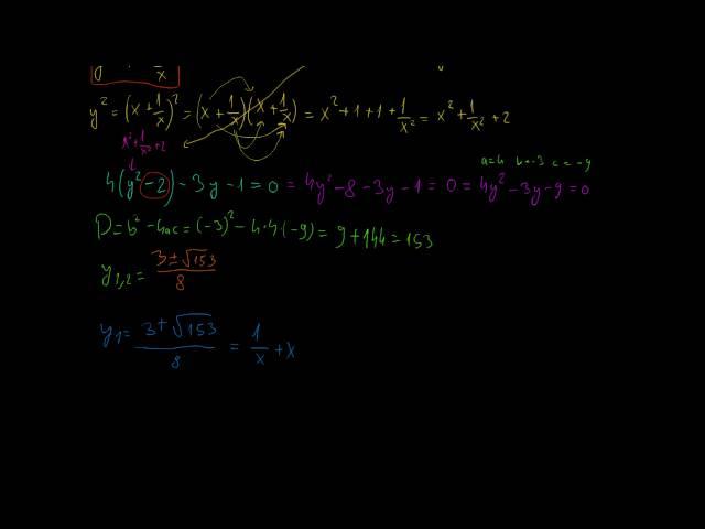 Speciális, magasabb fokszámú egyenletek (2. rész)
