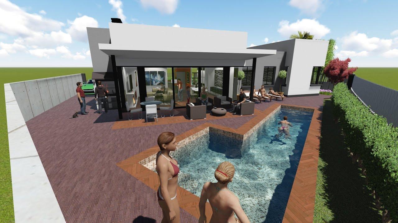 Proyecto de vivienda unifamiliar aislada y piscina en for Proyecto de piscina