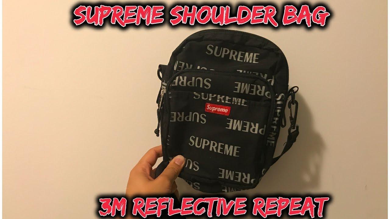 Supreme 3m Reflective Repeat Shoulder Bag Cordura