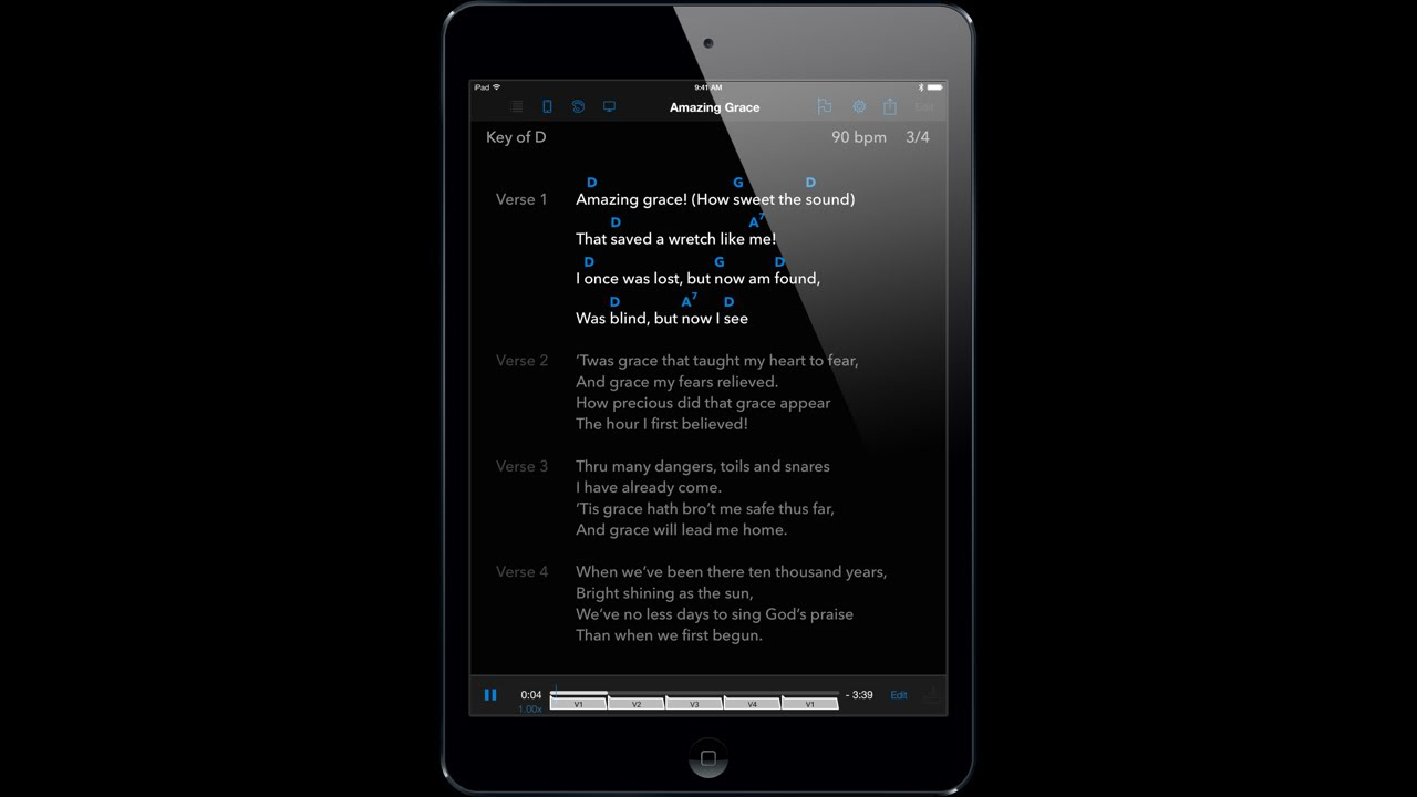Songsheet Pro For Ipad  Chord Chart Songbook, Set List Manager, And Gig  Assistant