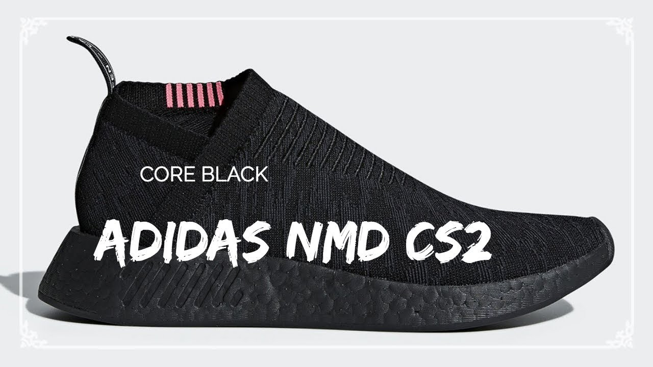 405c8db85e630 Video adidas NMD CS2 Core Black Running White - YouTube