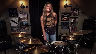 """LIVING COLOUR """"Cult of Personality"""" Drum Cover ~Brooke C"""