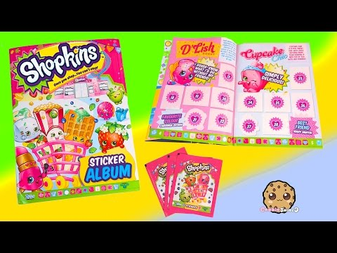 3 Shopkins Season 1 & 2 STICKERS Blind Bag PACKS + Album Unboxing Video Cookieswirlc