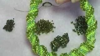 Beaded Cellini Spiral Stitch
