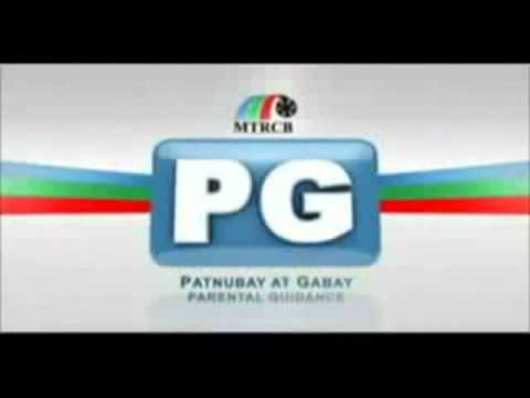 MTRCB Motion Pictures G, PG and SPG Classification Rating
