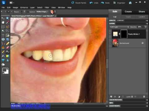 Whitening Teeth In Photoshop Elements Youtube