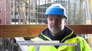 Saint-Quentin-en-Yvelines : déconstruction d'une passerelle historique