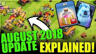 AUGUST 2018 FULL UPDATE EXPLAINED! NEW TROOPS,SPELLS,EVENTS ETC CLASH OF CLANS•FUTURE T18